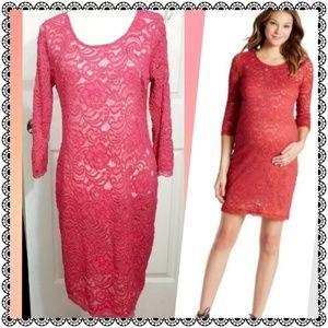 {Jessica Simpson} stretch lace dress, Maternity M
